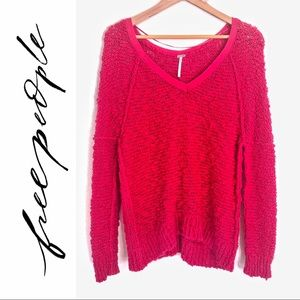{Free People} Songbird Nubby Knit Pullover Sweater